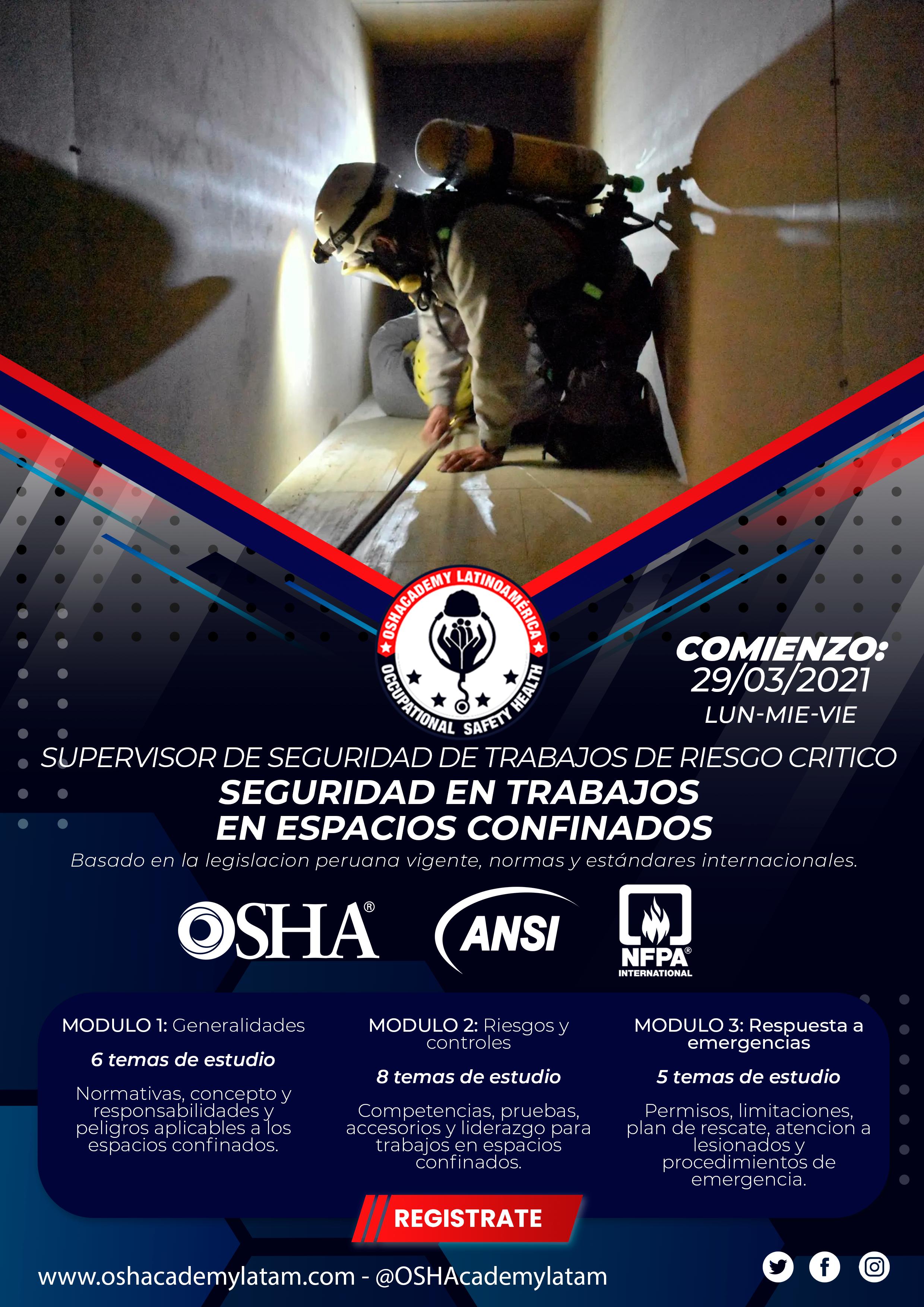 SEGURIDAD EN TRABAJOS EN ESPACIOS CONFINADOS.