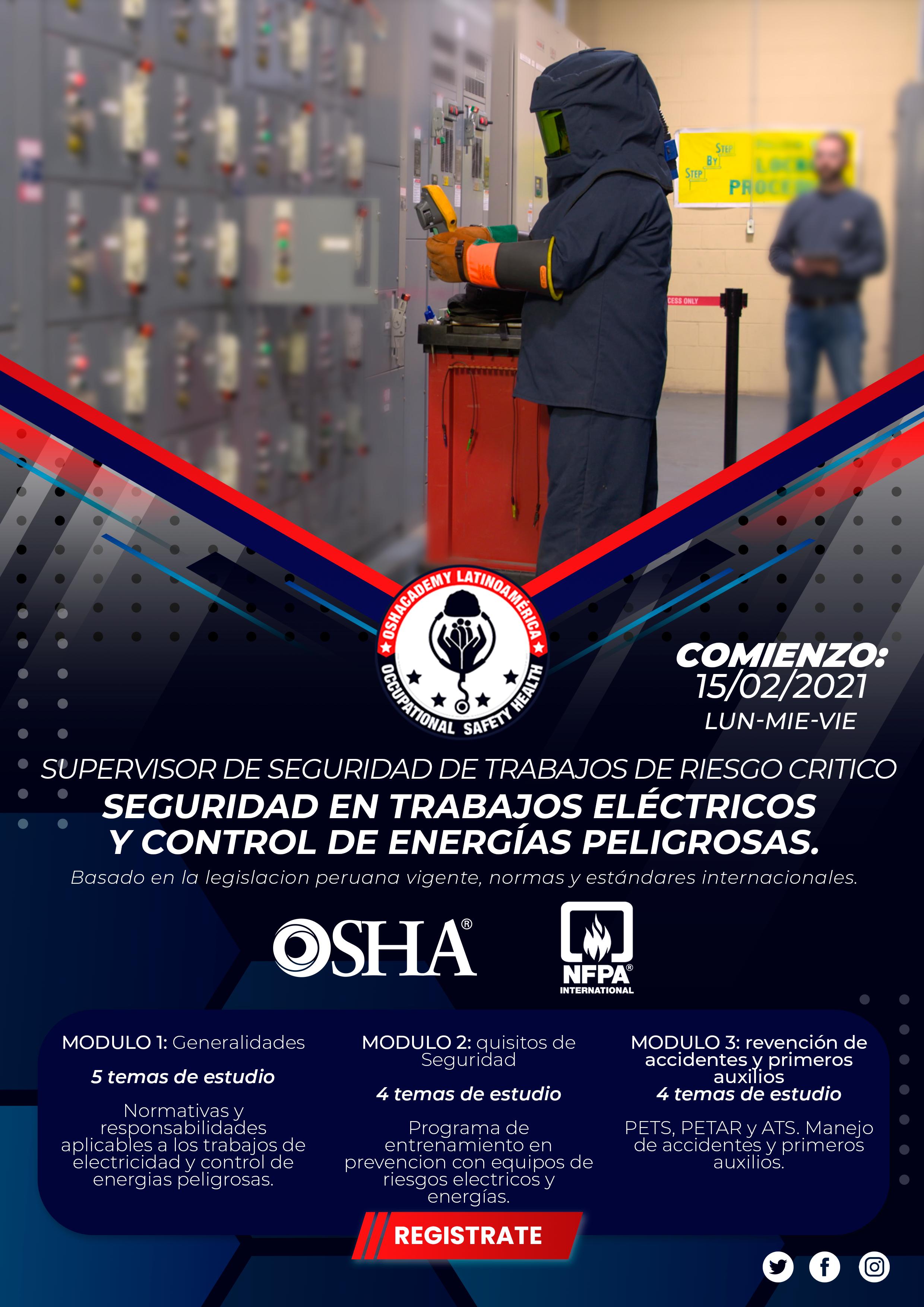 SEGURIDAD EN TRABAJOS DE RIESGO ELÉCTRICO.